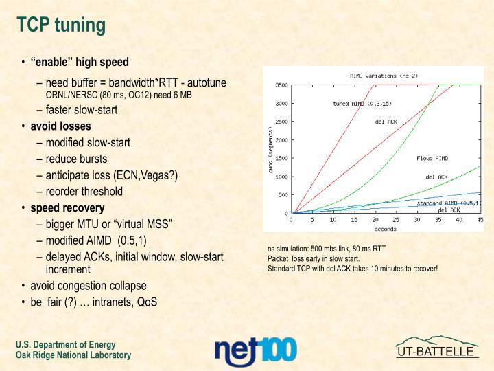 TCP tuning