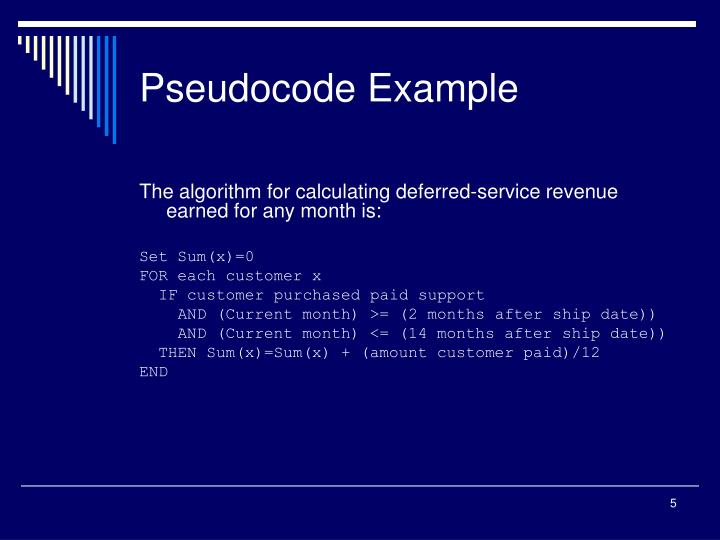Pseudocode Example