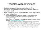 troubles with definitions