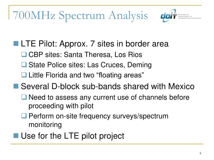 700MHz Spectrum Analysis