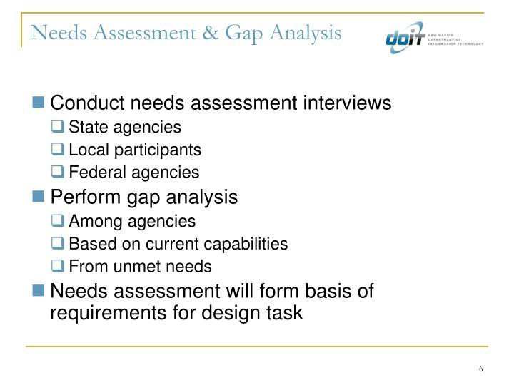 Needs Assessment & Gap Analysis