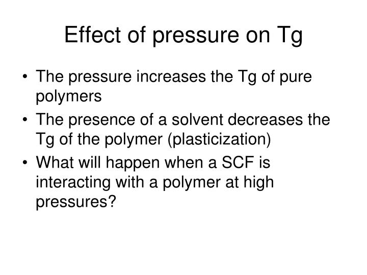 Effect of pressure on Tg