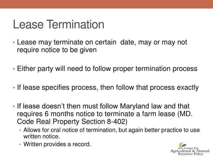 Lease Termination