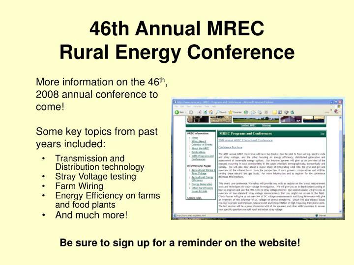 46th Annual MREC