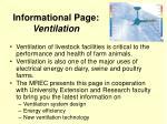 informational page ventilation