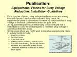 publication equipotential planes for stray voltage reduction installation guidelines