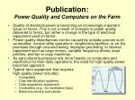 publication power quality and computers on the farm