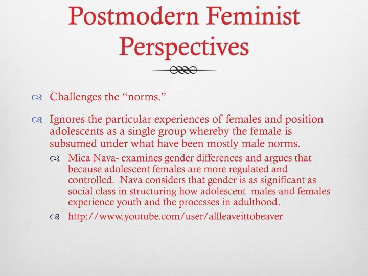 Postmodern Feminist Perspectives