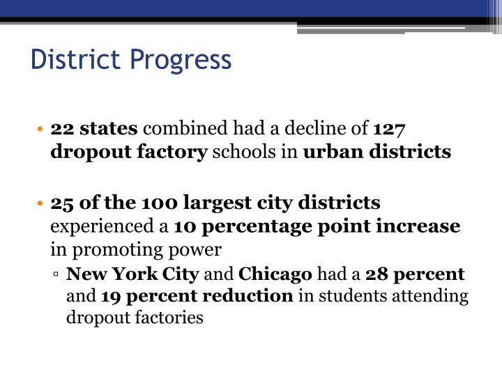 District Progress