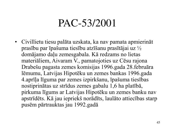 PAC-53/2001