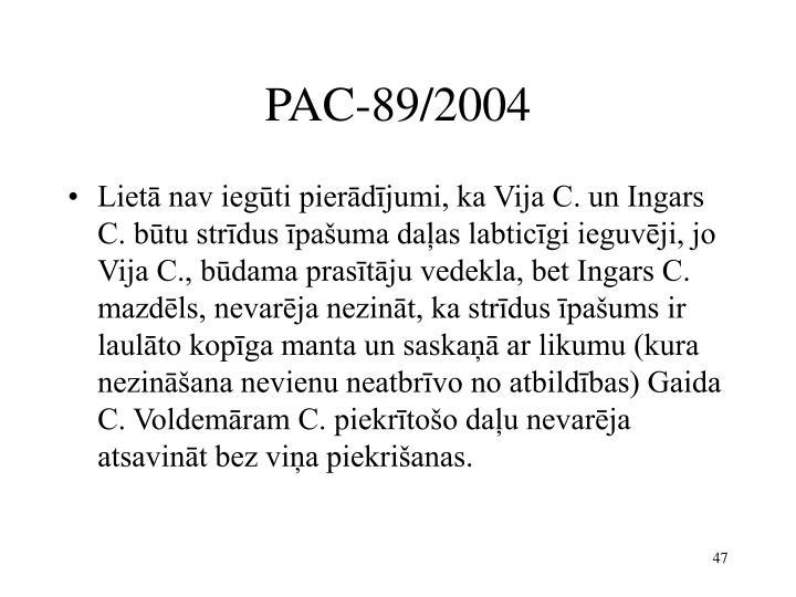 PAC-89/2004