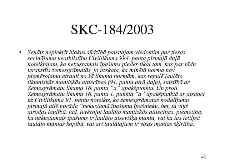 SKC-184/2003