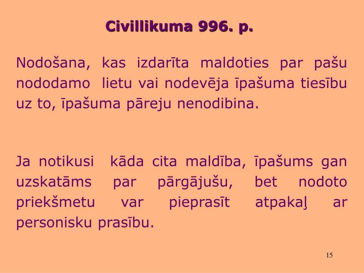 Civillikuma 996.