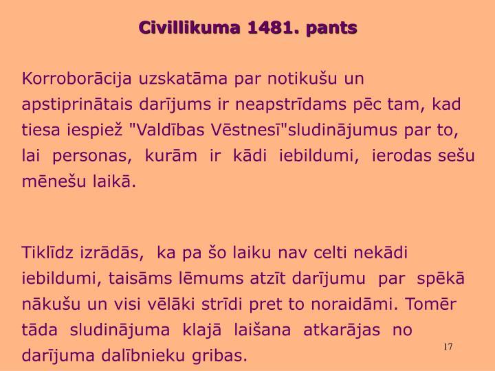 Civillikuma 1481. pants