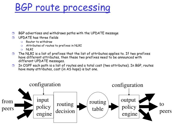 BGP route processing