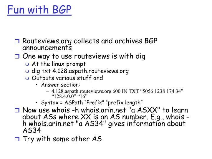 Fun with BGP