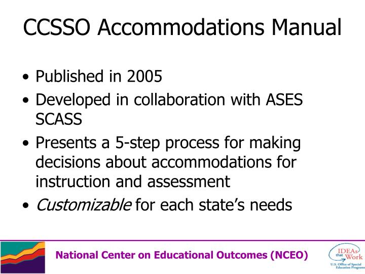 CCSSO Accommodations Manual