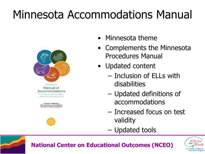 Minnesota Accommodations Manual