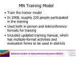 mn training model