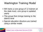 washington training model