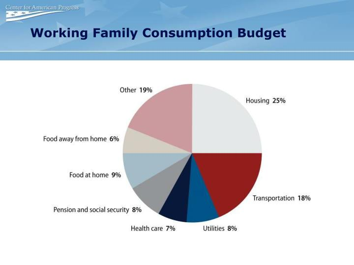 Working Family Consumption Budget