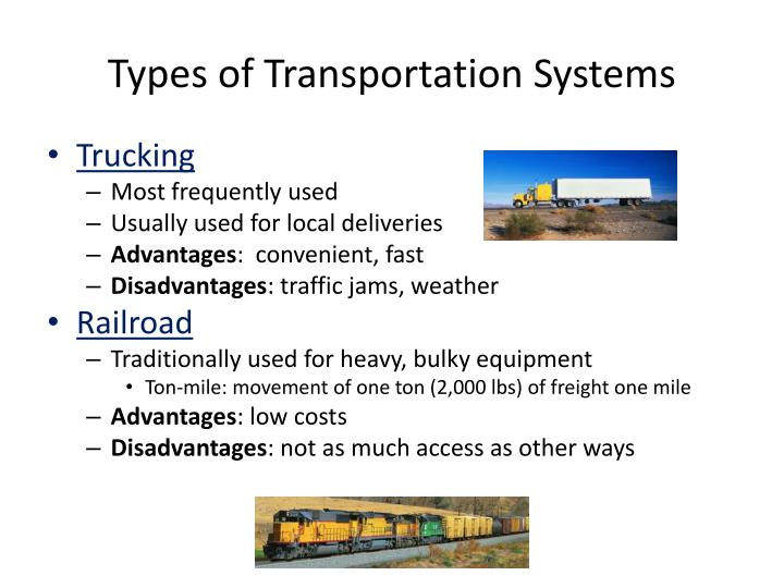 Types of Transportation Systems