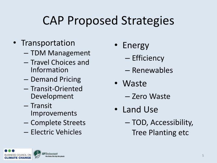 CAP Proposed Strategies