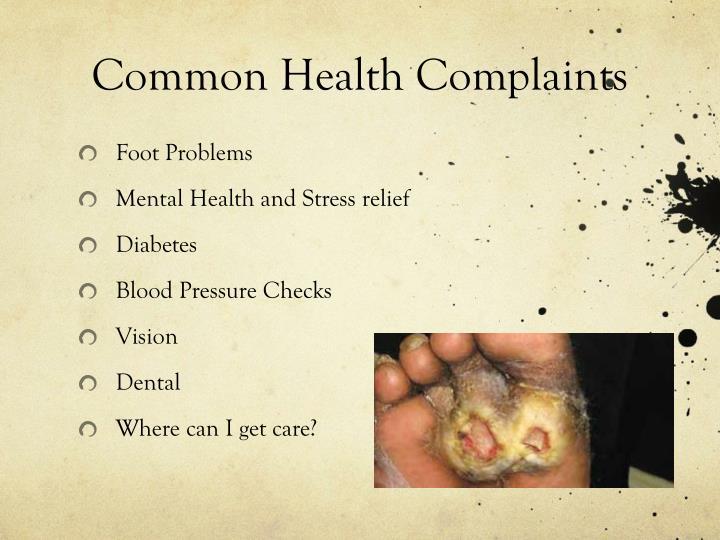 Common Health Complaints