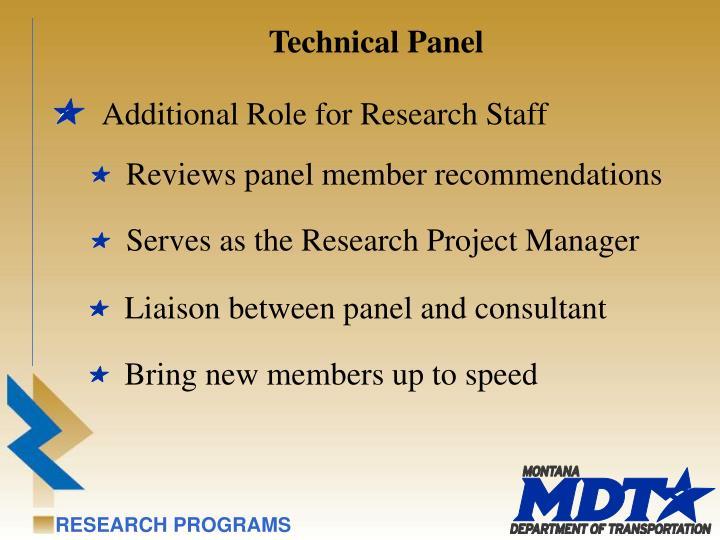 Technical Panel