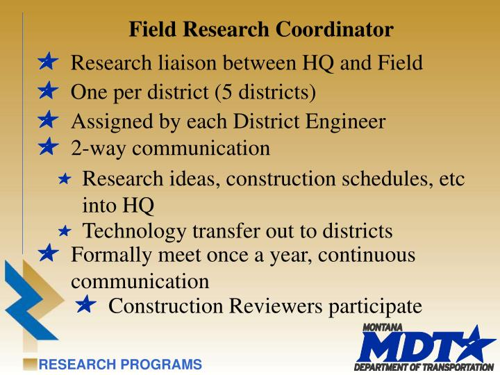 Field Research Coordinator