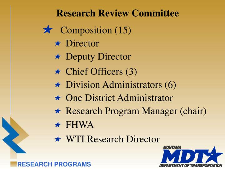 Research Review Committee