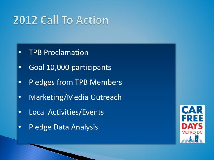 2012 Call To Action