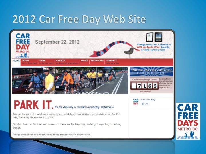 2012 Car Free Day Web Site