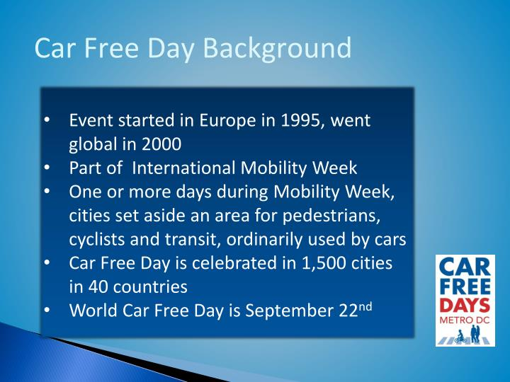 Car Free Day Background