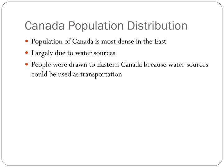 Canada Population Distribution