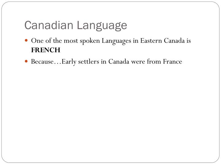 Canadian language
