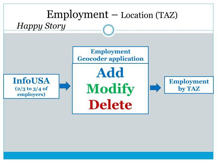 Employment –