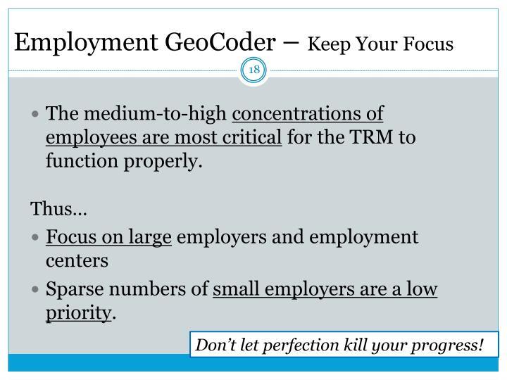 Employment GeoCoder
