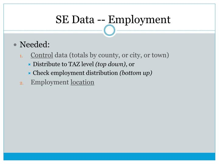 SE Data -- Employment