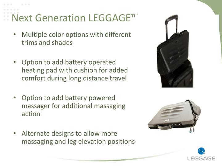 Next Generation LEGGAGE™