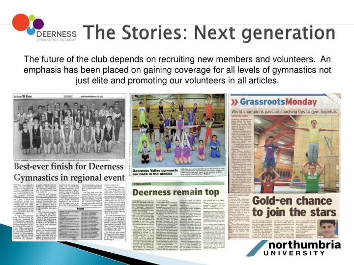 The Stories: Next generation