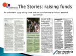 the stories raising funds