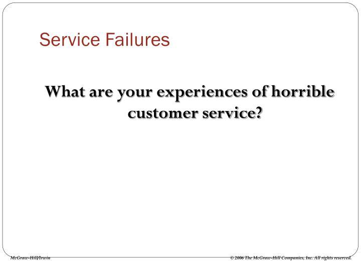 Service Failures