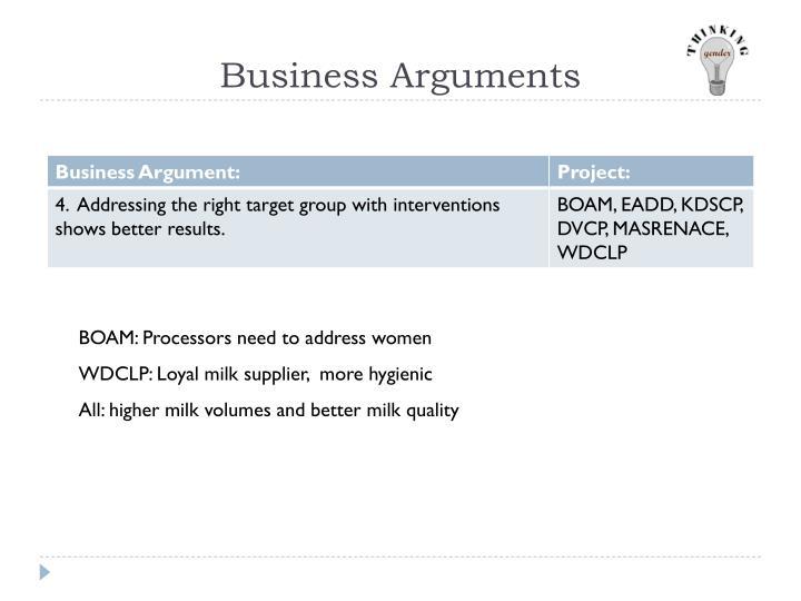 Business Arguments