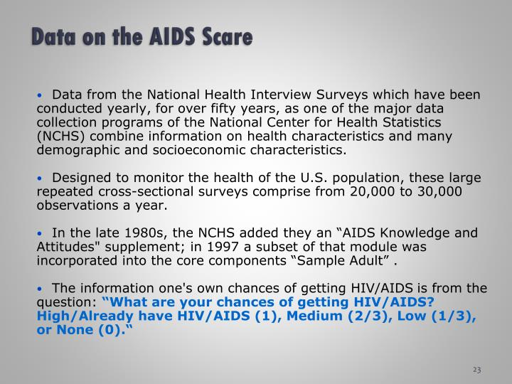 Data on the AIDS Scare