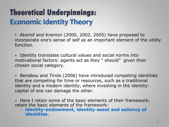 Theoretical Underpinnings:
