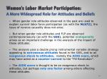 women s labor market participation a more widespread role for attitudes and beliefs2