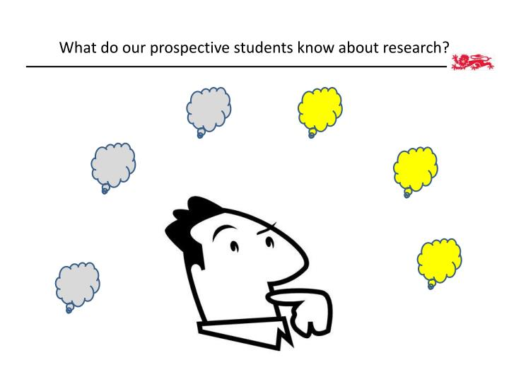 What do our prospective students know about research?