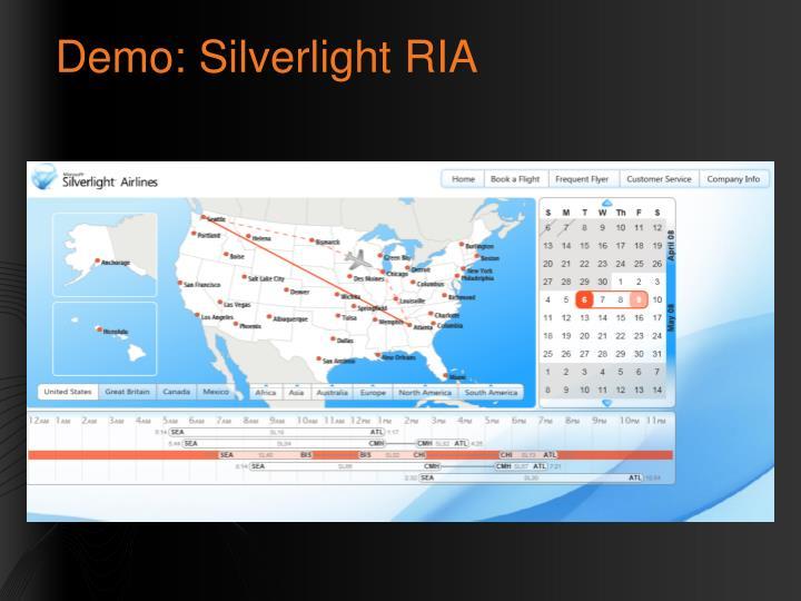 Demo: Silverlight RIA