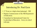introducing dr paul ezen